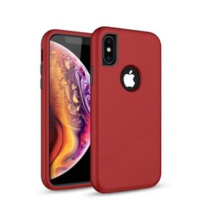 Defender Solid 3in1 kotelo iPhone X / iPhone XS - Punainen