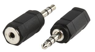 adapteriiliitin 3.5mm stereo uros - 2.5mm stereo naaras