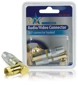 HQ HIGH END F CONNECTORS HOOKED (2x)