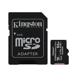 Kingston Muistikortti microSDXC Canvas Select Plus ( 64GB | class 10 | UHS-I | 100 MB/s) + SD-sovitin
