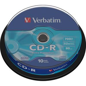Verbatim CD-R, 52x,700MB/80 min,10-pakkaus,spindle,Extra Protection